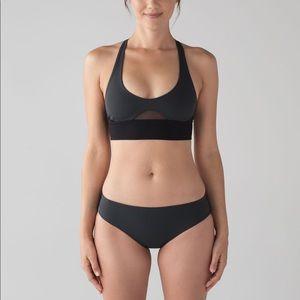 LULULEMON grey & black bikini set *SEE SIZES